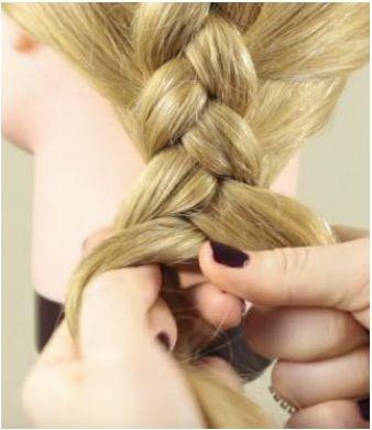 Окончание плетения косы