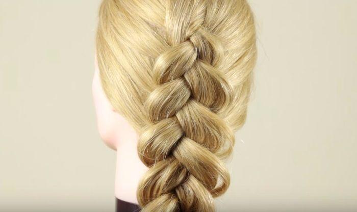 Обратная французская коса результат