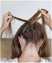 Плетение французской косы снизу вверх