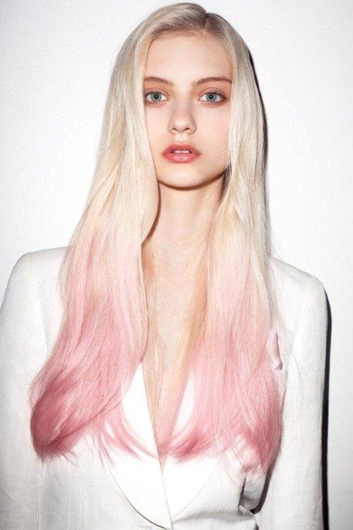 неравномерный цвет волос в моде