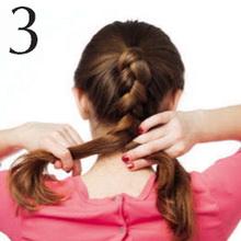 Плетение косы из хвоста