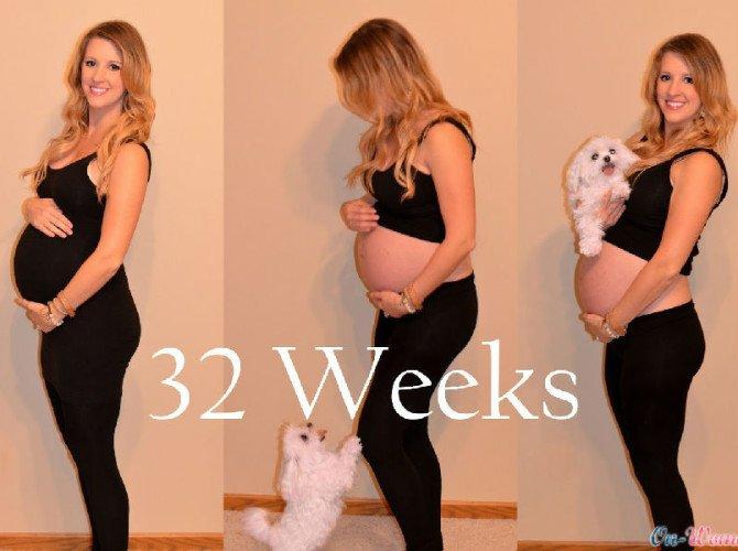 32 неделя мамин живот