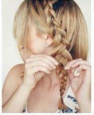 Вытягивание прядок из косы