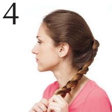 Закрепление косы из хвоста резинкой