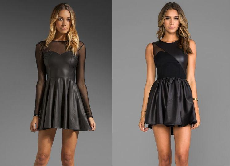 Черные коктельные платья