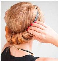 Закрепление волос шпильками