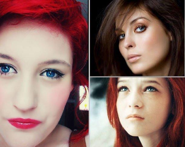 Какой цвет волос подойдёт к голубым глазам и круглому лицу
