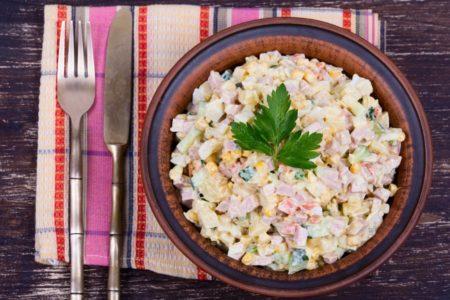Зимний салат или настоящий Оливье?