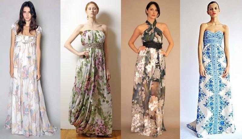 Летние платья до пола