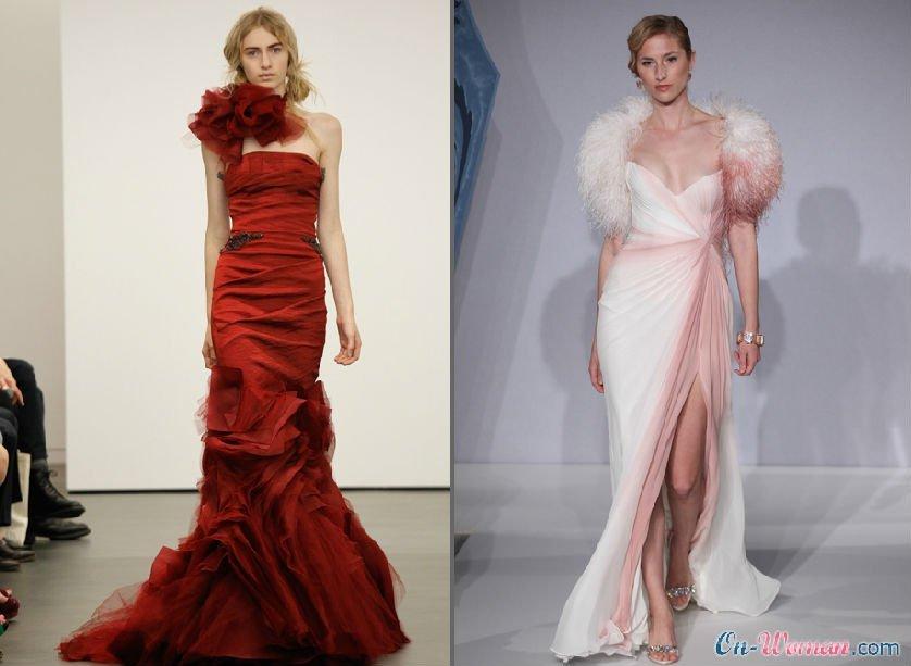 Ярко-красный и розовые цвета в тренде