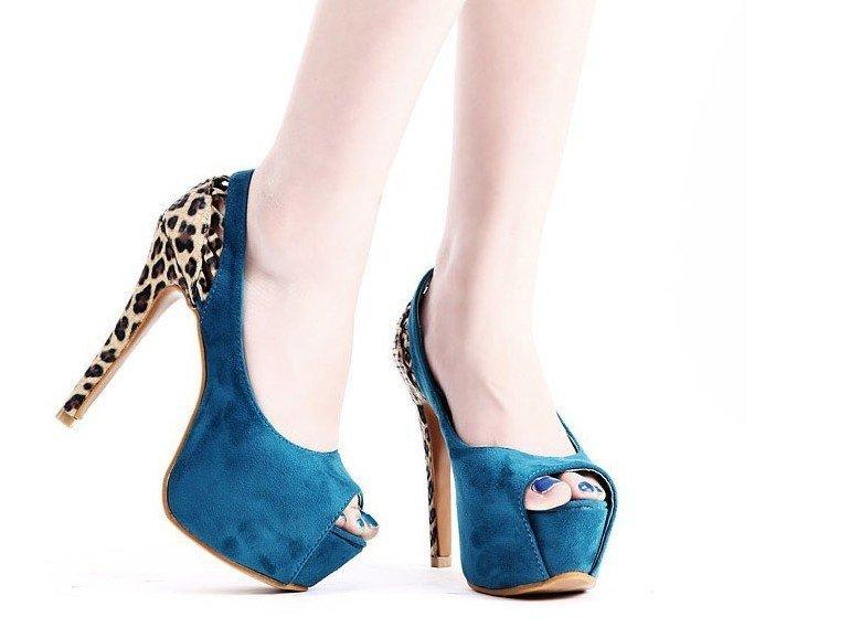 синие туфли