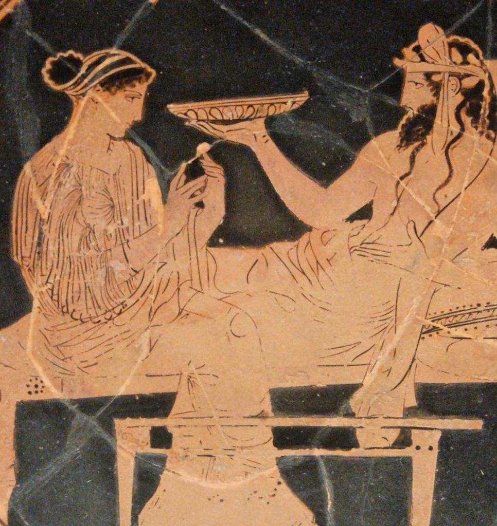 древняя римская фреска с изображением пирующих