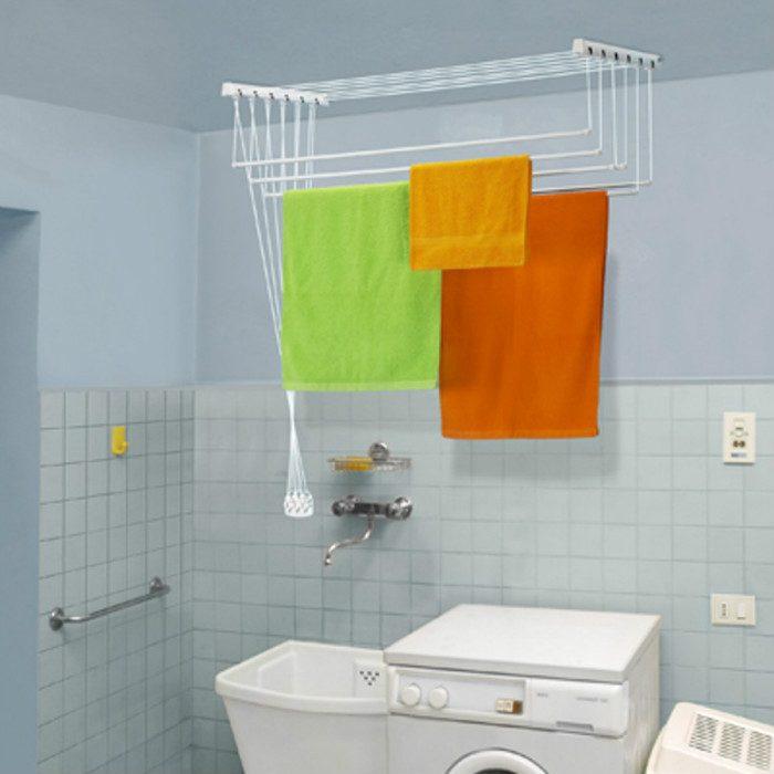 Потолочная сушилка в ванной комнате
