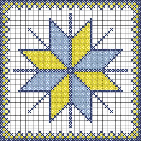 Схема вышивки символа Алатырь