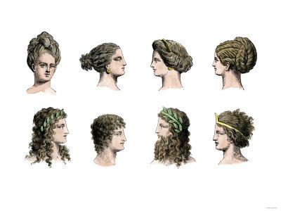 Античные причёски