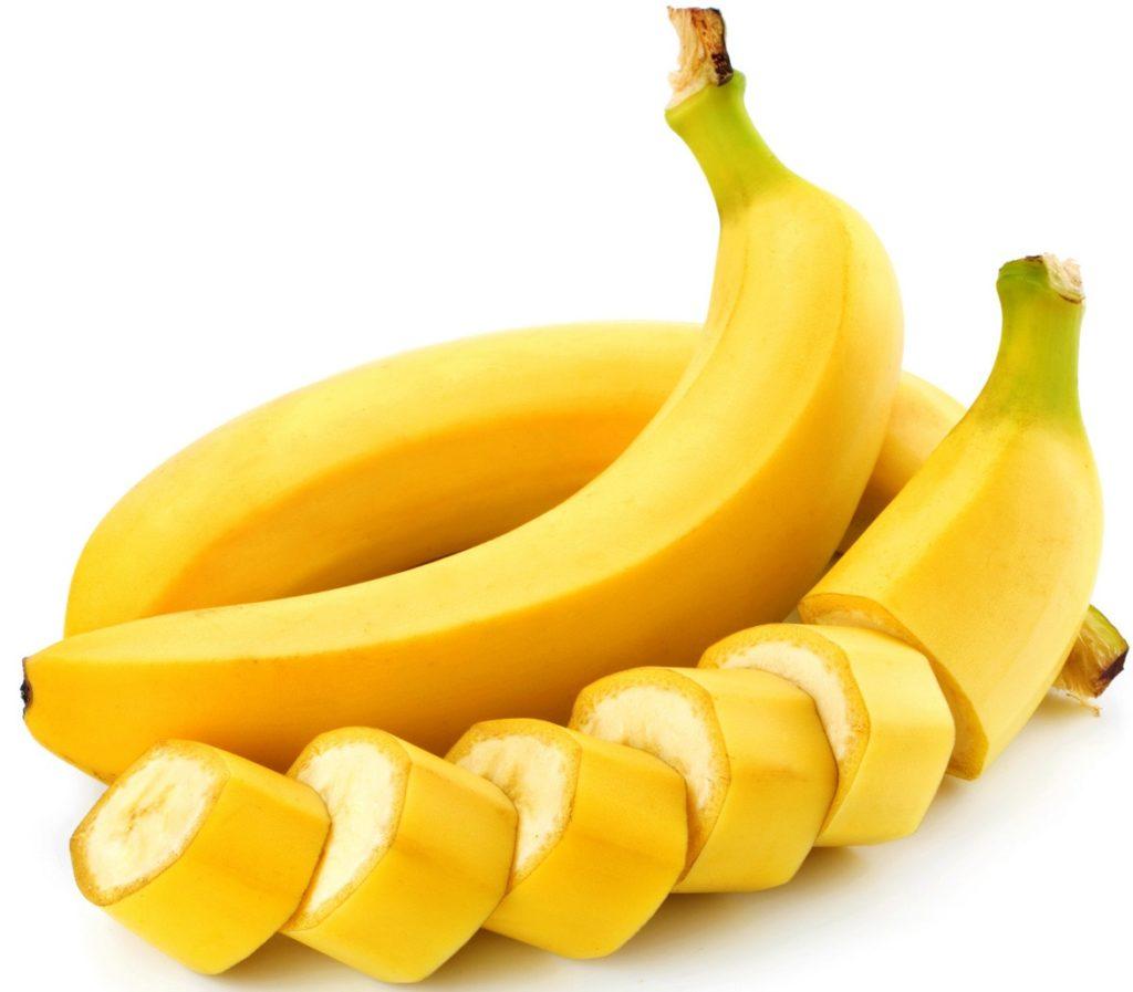 Бананы целые и кружочками