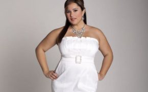Платье белого цвета для полных
