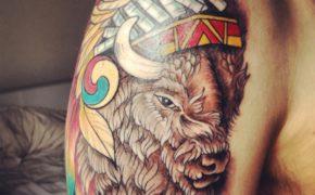 Татуировка Бизон