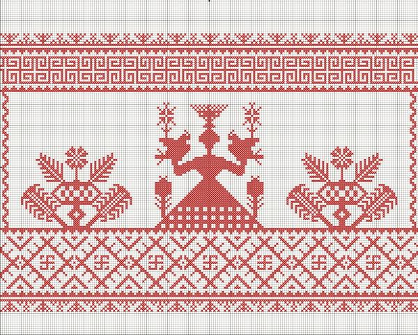 Схема вышивки Богиня Макошь