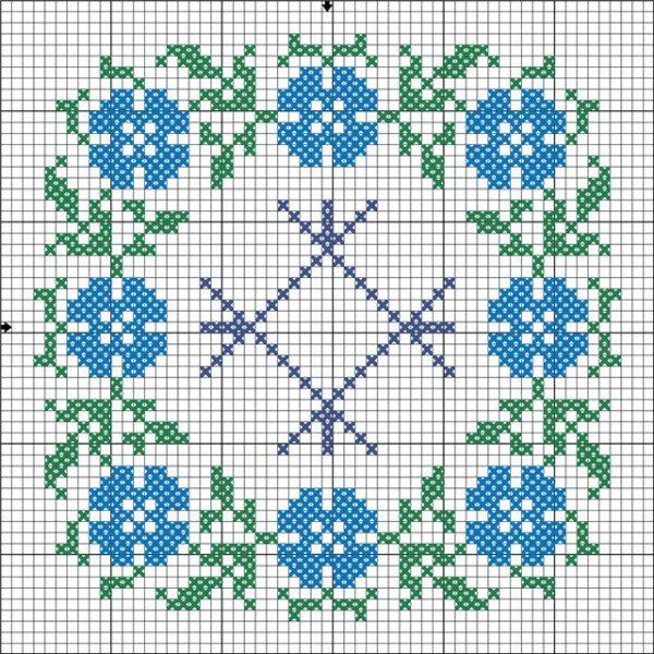 Схема вышивки символа Целебник