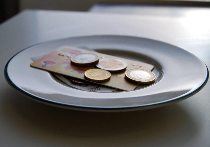 чаевые евро