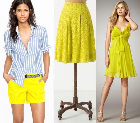 С чем носить платье лимонного цвета