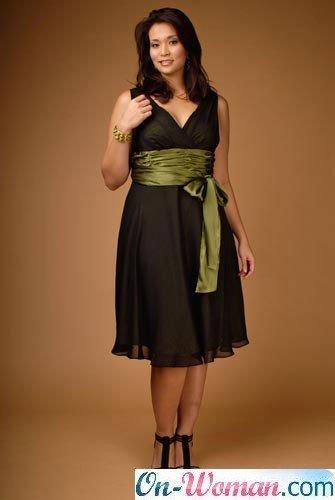 Идеальное решение для полных женщин платье А-силуэта, оно обтягивает...