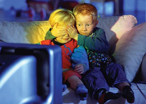 Дети боятся увиденного на экране