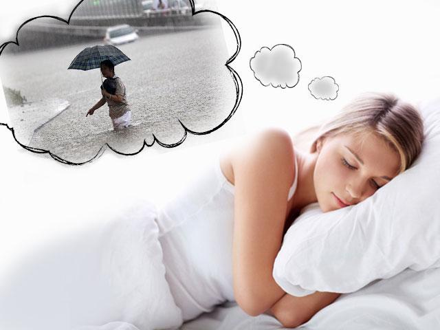 Девушке снится наводнение
