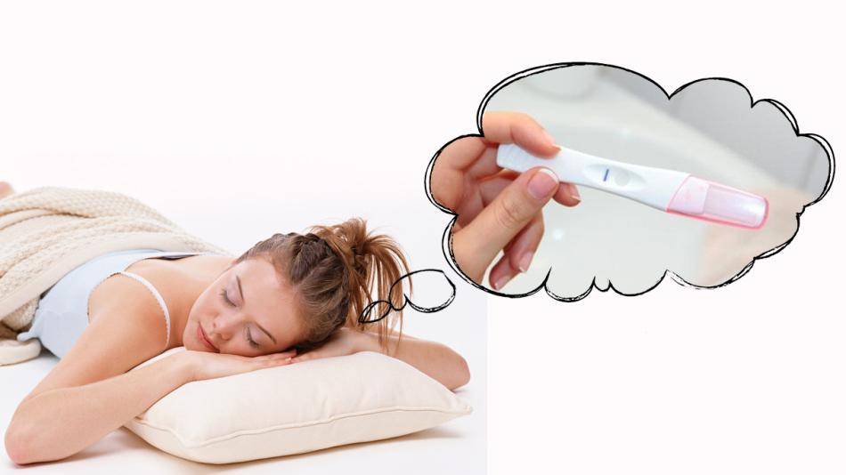 Девушке снится тест на беременность