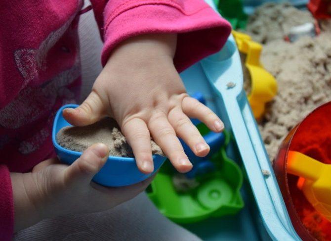 домашняя песочница для детей