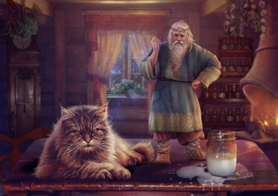 Домовой в виде кота