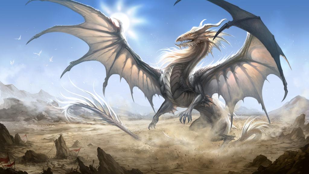 Дракон с расправленными крыльями