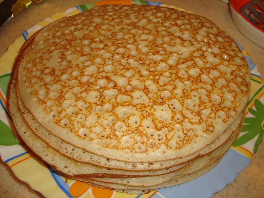 Как сделать тесто на блины на кефире с дрожжами