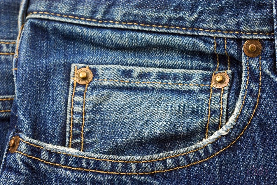 Заклёпки на джинсах