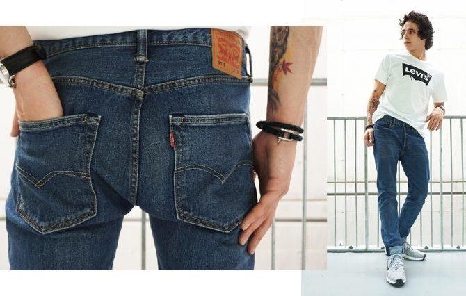 джинсы мужские фото