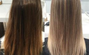 Придание оттенка на русых волосах