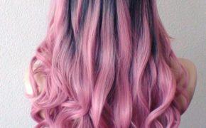 Розовый балаяж