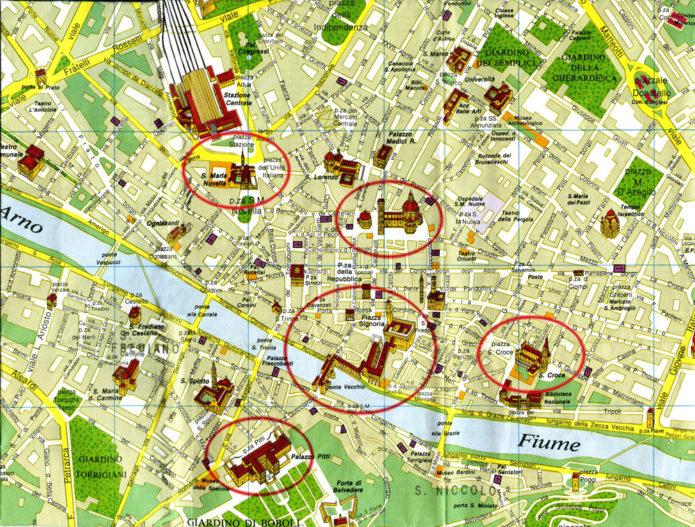 флоренция туристическая карта