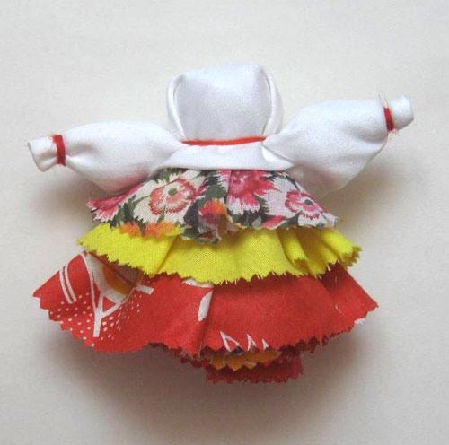 Формирование рук куклы Колокольчик