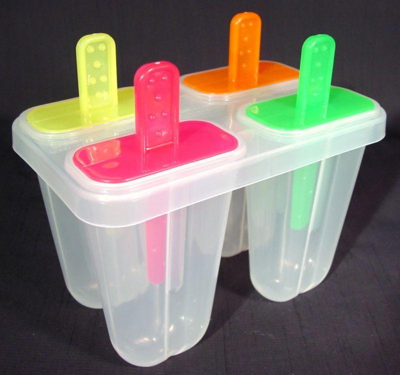 Разноцветные формы с палочками для мороженого