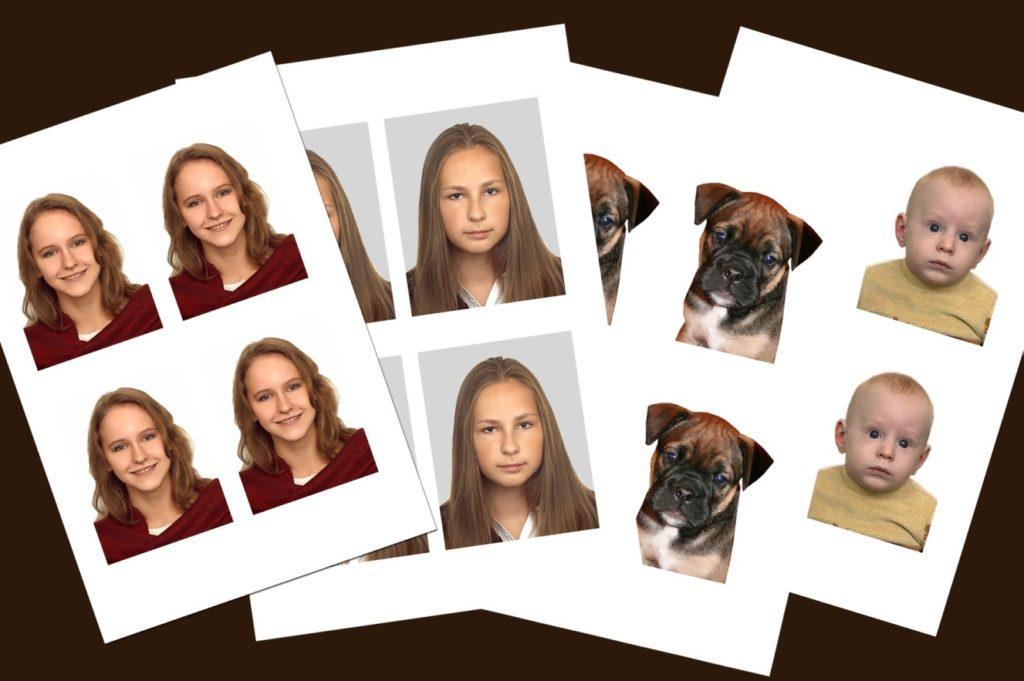 Фото на документы молодых девушек, ребенка и собаки