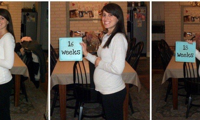 животики беременных