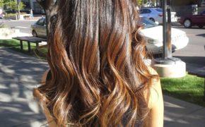 Осветление каштановых волос