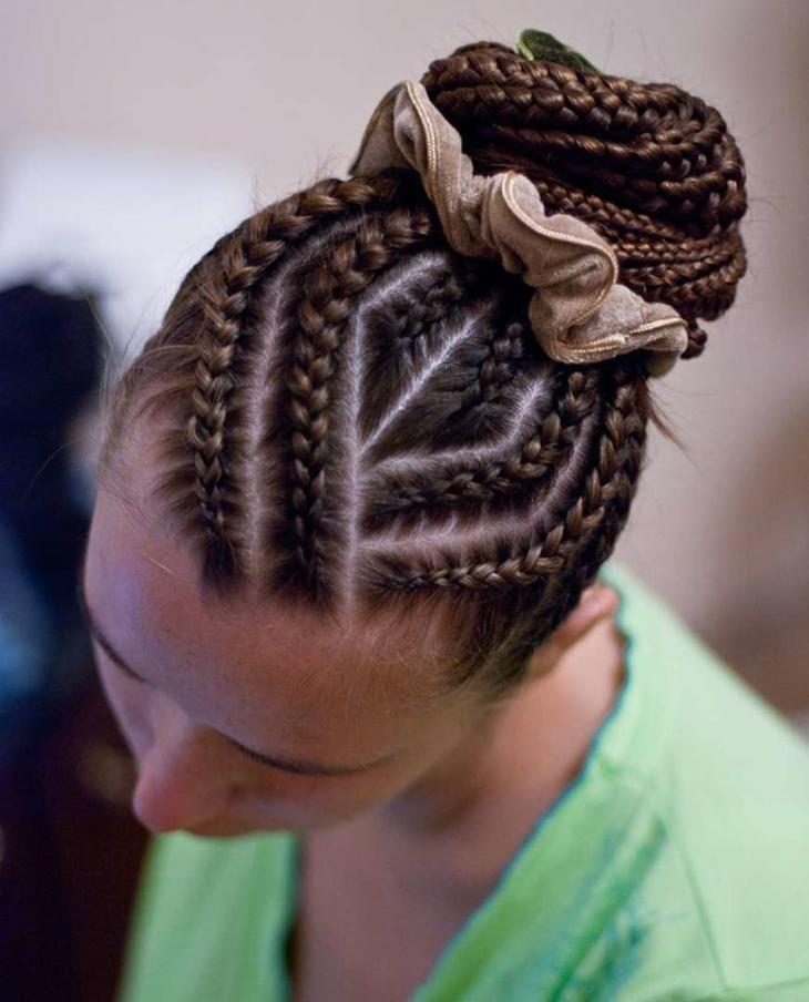 Геометрические узоры из французских кос