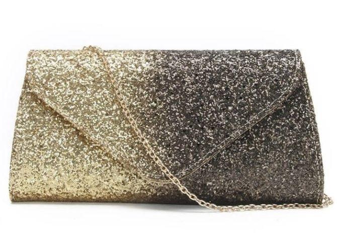 сумка золотая серебряная