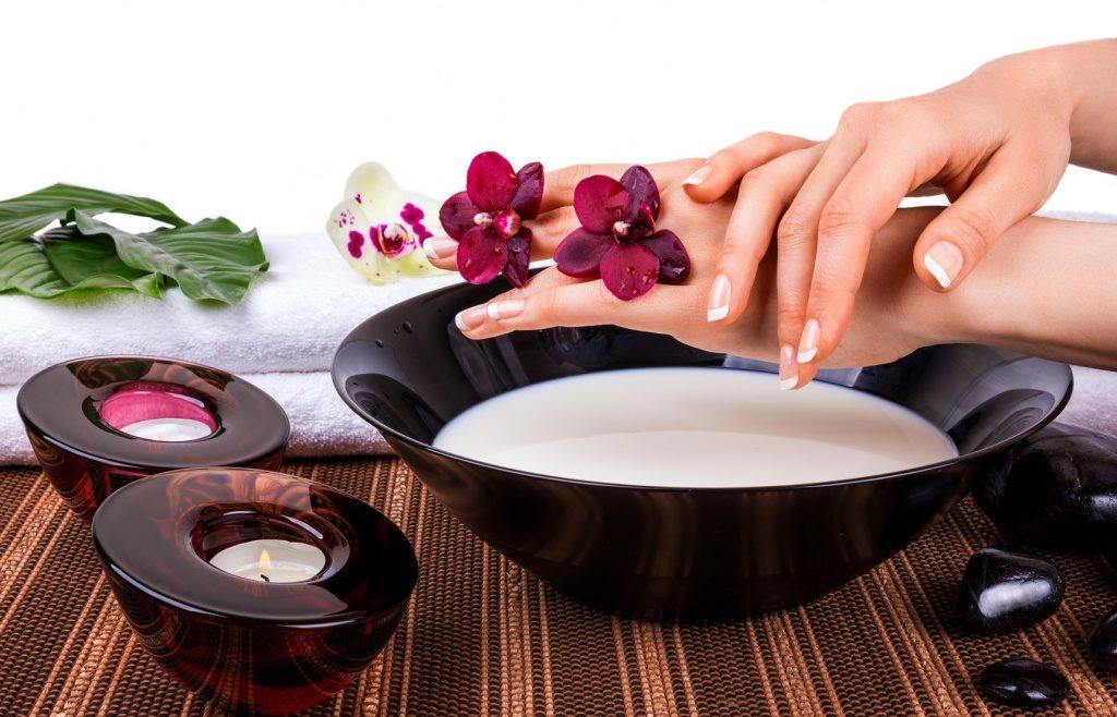 Ванночка для рук и свечи