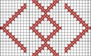 Схема вышивки символа Громовник