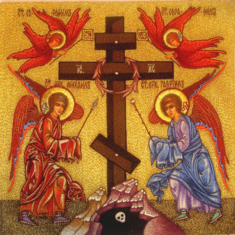 Икона с крестом