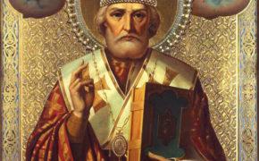 Икона со святым Николаем Чудотворцем